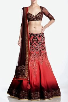 Indian Wedding Dresses by Satya Paul (Hope this is a really dark burgundy, and not black.)