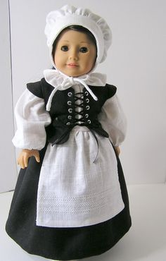 Pilgrim Outfit for American Girl Doll. $37.00, via #Beautiful Dress