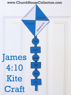 Kite Cutout Craft For Sunday School Kids James 4:10- Free Printable Template Pattern To Print Out For Summer Crafts- Children's Church- by Church House Collection