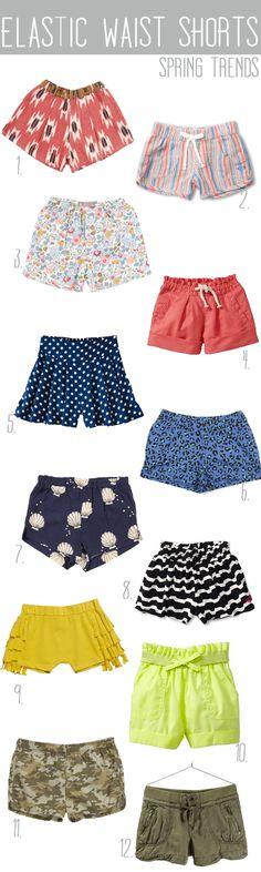 elastic waist shorts… trend for spring