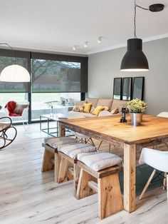 60 Modern Farmhouse Dining Room Table Ideas Decor And Makeov.- 60 Modern Farmhouse Dining Room Table Ideas Decor And Makeover - Farmhouse Dining Room Table, Dining Room Furniture, Dining Table, Wood Table, Ikea Dining Room, Dining Chairs, Sweet Home, Beautiful Dining Rooms, Dining Room Design
