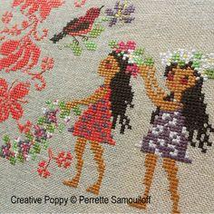 Perrette Samouiloff - Tropical paradise zoom 1 (cross stitch chart)