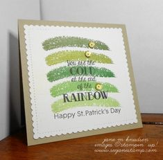 Pals Paper Crafting Card Ideas Over the Rainbow Mary Fish Stampin Pretty StampinUp