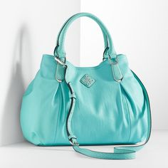 Simply Vera Vera Wang Modena Shopper ($99) ❤ liked on Polyvore featuring bags, handbags, tote bags, blue, purse tote, blue tote bag, hand bags, handbag tote and blue purse