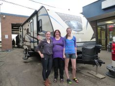 Congratulations to Peggy, Felicia and Rebecca.  Enjoy your new Sunset Trail Super Lite 270BH Travel Trailer.
