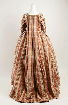 Robe à la Française, (rear view) 1770–90, French (probably), silk, (c) Metropolitan Museum of Art