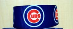 3 Yards 7/8 Chicago Cubs Grosgrain Ribbon by Softba11Bows on Etsy