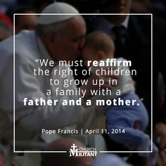 Pope Francis defending traditional #marriage