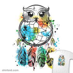 Owl Dreamcatcher | Shirtoid #book #dreamcatcher #film #harrypotter #hedwig #hogwarts #movies #nemimakeit #noemifadda #watercolor