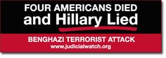 Sign up to get your free Hillary Lied bumper sticker and support our fight against government corruption today. Because no one is above the law!