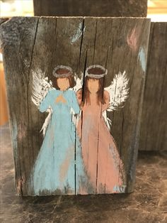 Pallet Painting, Pallet Art, Painting On Wood, Christmas Paintings, Christmas Art, Christmas Angels, Angel Crafts, Angel Pictures, Angel Art