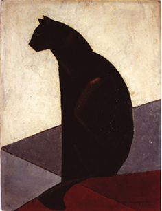 Chat noir de profil, 1924 Art Print by Marcel-Louis Baugniet - WorldGallery.co.uk