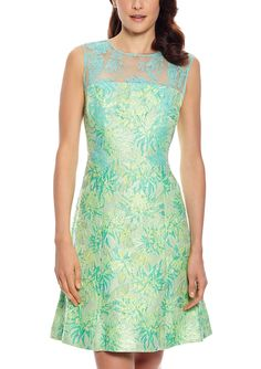 ideel | KAY UNGER Lace Fit-and-Flare Cocktail Dress