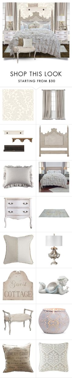 """""""Vintage Shabby Chic"""" by obriendeb812 ❤ liked on Polyvore featuring interior, interiors, interior design, home, home decor, interior decorating, York Wallcoverings, Nate Berkus, Pom Pom at Home and Rizzy Home"""