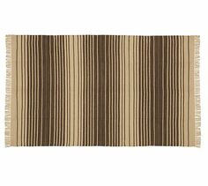 Dennis Stripe Recycled Yarn Indoor/Outdoor Rug - Brown #potterybarn-$49.00 – $349.00; New Online Only