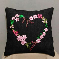 Pillow Ribbon Embroidery