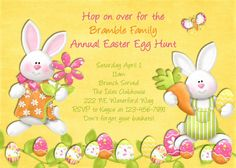 Easter Egg Hunt Invitation  Printable and Custom by 3PeasPrints, $16.00