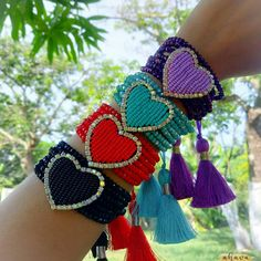 SINOBI 3 Wrap Bracelets for Women Boho Multicolor Stretch Beaded Stackable Bracelets Wood Elephant Charm Bangle – Jewelry & Gifts Handmade Jewelry Bracelets, Bohemian Bracelets, Tassel Jewelry, Seed Bead Bracelets, Bead Jewellery, Gems Jewelry, Fashion Bracelets, Diy Jewelry, Silver Jewelry