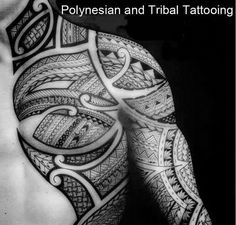 beautiful tattoo tribal polynesian