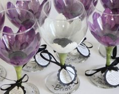 Bridesmaid wine glasses, personalized wine glasses.  Huge 20oz wine glass that is dishwasher safe.  Free personalization and free branded gift boxes.  Click for more info.