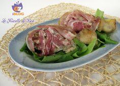 Un secondo piatto delicato cosce di pollo con pancetta! http://blog.giallozafferano.it/lericettedibea/cosce-pollo-pancetta/