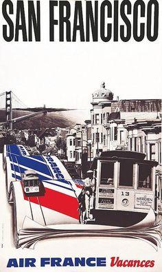 Air France - San Francisco - Vers 1980 -