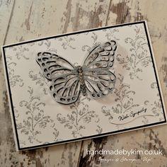 Stampin' Up! Demonstrator Kim Price - Handmade by Kim: Black & White Butterfly Sympathy Card