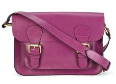 Laura Ashley - Magenta pink leather satchel reduced to £51.00 - was £85.00.