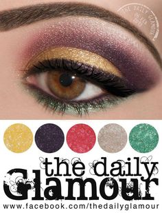 Combine yellow, purple, and forest green shadows together to create a stunning eye look for a night out. Smokey Eyeshadow Looks, Brown Eyeshadow, Are You Experienced, Stunning Eyes, Beautiful, Gel Liner, Beauty Hacks, Beauty Tips, Beauty Products
