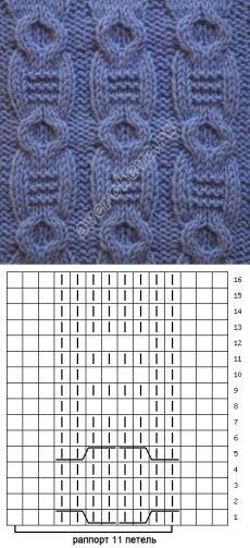 узор 181 | каталог вязаных спицами узоров