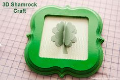 Easy 3D Shamrock Craft for St. Patrick's Day