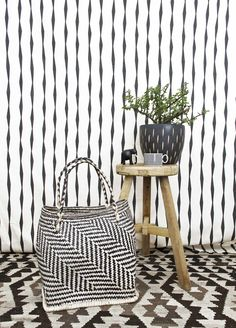 A contemporary basket made in South Africa by Design Afrika.
