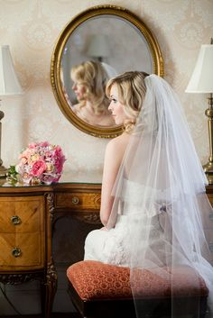 Pink and Gold Wedding Inspiration from Ashley Bartoletti Photography - Inspiration: Brides wedding veil photography Wedding Veil, Dream Wedding, Wedding Dreams, Simple Veil, Wedding Photography And Videography, Photography Ideas, Pink And Gold Wedding, Wedding Hair And Makeup, Bridal Beauty