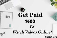 Are you looking for easy ways to earn instant cash? Check out this list of free sites/apps that pay you instant cash to watch videos! Make Cash Online, Earn Extra Money Online, Earn Money From Home, Surveys That Pay Cash, Survey Sites That Pay, Online Income, Online Jobs, Online Survey, Make Easy Money