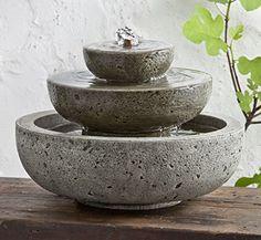 Garden Terrace Cast Stone Platia Fountain Finish: Alpine ... https://www.amazon.com/dp/B005FWU1R0/ref=cm_sw_r_pi_dp_Q2eJxb41WRCPD