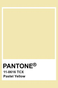 This color in yellow in hue, light in value, and low in chroma. This creates a very pale and relaxing yellow tone. Paleta Pantone, Pantone Tcx, Pantone Swatches, Color Swatches, Yellow Aesthetic Pastel, Aesthetic Colors, Pantone Colour Palettes, Pantone Color, Yellow Pantone