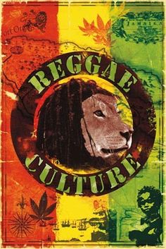 Reggae Culture - Collage of Reggae Symbols