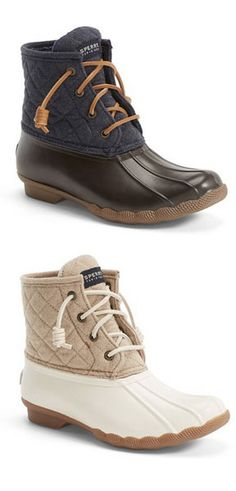 BACK IN STOCK! These super cute Sperry rain boots are on sale for $79!