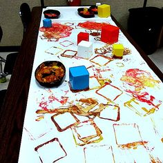 Teaching 2 and 3 Year Olds - shape painting