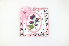 Part of the Bohemian Garden Collection by Tattered Lace Tattered Lace Cards, Card Maker, Cardmaking, 3 D, Birthday Cards, Bohemian, Crafty, Blackberry, Garden