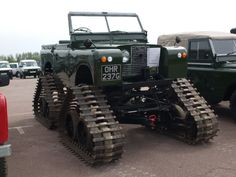 Tracked Land Rover at Gaydon 2008   HAHAHAHAAA!!  *sigh*... white people.  (this was on a board about Texas)