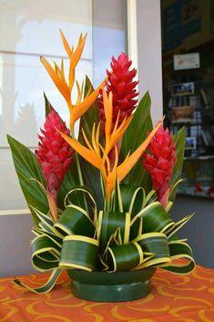 Flowers Online Noida in 2020 Tropical Flowers, Tropical Flower Arrangements, Church Flower Arrangements, Beautiful Flower Arrangements, Exotic Flowers, Beautiful Flowers, White Flowers, Purple Flowers, Spring Flowers