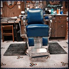 OH the blue barber chair with Eudora looking on...she never cracked a smile ....but we sure did!