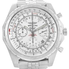 15507 Breitling Bentley Motors T Silver Dial Chronograph Mens Watch A25363 SwissWatchExpo