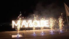 """Für May & Olde durften wir ein Feuerwerk zum Firmenjubiläum zünden. Lichterbilder können individuell gestaltet werden und sind eine schöne Art seinen Mitarbeitern """"Danke"""" zu sagen."""
