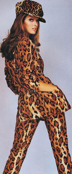Vintage Editorial featuring Leopard Print Pantsuit