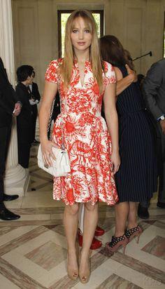 Jennifer Lawrence at Dior Paris Fashion Week Show 02.06.2012