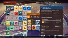 No Man's Sky: Crafting UI