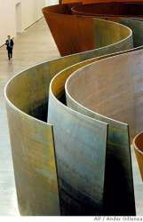 Can cold, hard steel turn sinuous? Richard Serra's enormous sculptures snake through space, time.