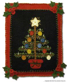 Precut Wool Felt Kit - Victorian Christmas Tree Quilt ...